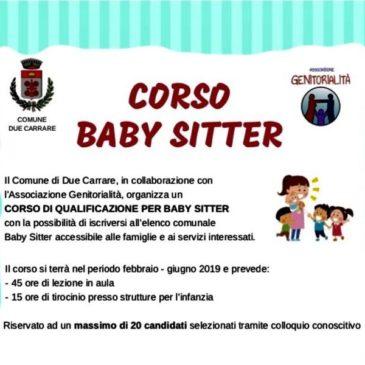 NUOVO corso Babysitter a Due Carrare (PD)